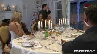 Aleska Diamond, Britney, Claudia Rossi, Angelica Heart, Mandy Bright and Yoanna Sweet in group orgy image