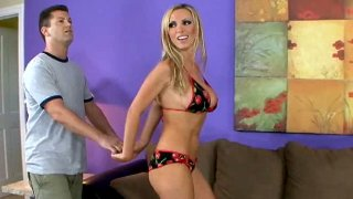 Awesome blonde Nikki Benz seduces man_for steamy sex image
