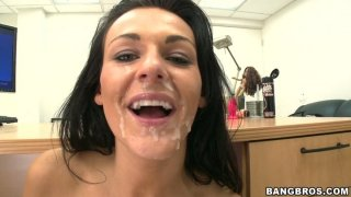 Dirty Nikki gets her face messed up with a fat load image
