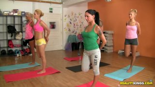 Flexible chicks are fond of yoga_and seducing men image