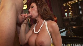 Horny cougar Deauxma gives a head and gets_hammered hard doggy style image