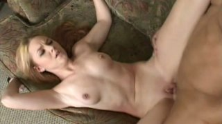 Too emotional red head Ginger Taylor gets poked on the sofa image
