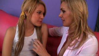 Cool blondies Bella Banxx & Tanya Tate don't mind licking pussies image
