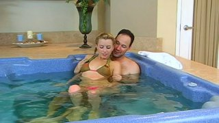 Hot water makes Lexi Belle horny and she wanna get fucked image