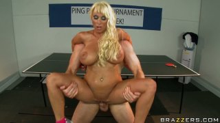 Holly Halston gets fucked on the tennis table image