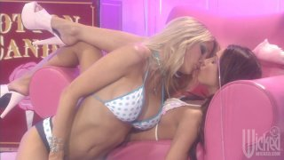Two candy girls Jessica Drake and  Kirsten Price loving each other image