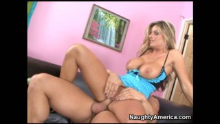 Busty mom Kristal Summers fucks missionary style and rides cock image