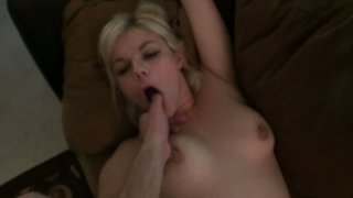 Ugly blonde slut Alice Frost gets nailed hard in a missionary position in a POV video image
