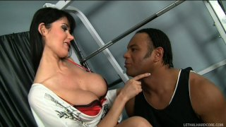 Cocky douchebag Sledge Hammer gets a blowjob from Eva Karera image