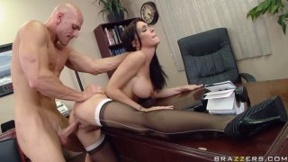 Busty brunette Jessica Jaymes fucks her boss in the office image