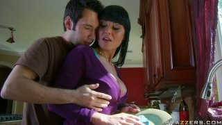 Housewife Mahina Zaltana fornicate in the kitchen while_her husband is at work image