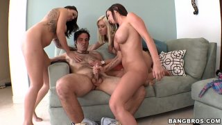 Funky orgy in the living room with Jessica Lynn, Emily Parker and Brandy Aniston image