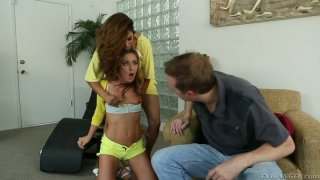 Exotic Francesca Le orders Sheena Shaw participate in threesome with Mark Wood image