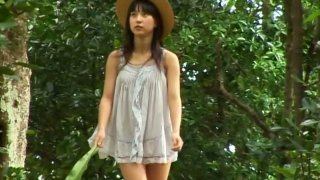 Cute Japanese babe Yui Minami poses on cam demonstrating her sexy body image
