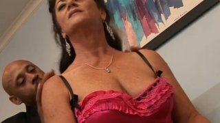 Old flabby hoe De Bella gets pleased by her black servant image
