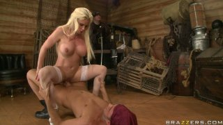 Sex queen Diamond Foxxx fucks pirate in front of her husband image