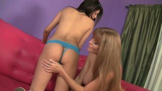 Lesbo experiments with torrid sluts Darla Crane and Shyla Jennings image