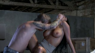 Curvaceous business woman Alektra Blue blows cock of a blonde dude image