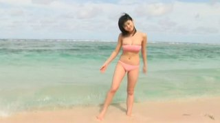 Hungry and horny Mikie Hara plays on a beach showing off her sexy body image