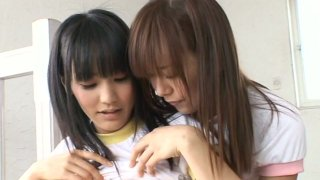 Image: Cute young babe Yuri Hamada loves to touch and play with other girls