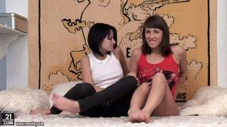 vusi nova asphelelanga, Two skinny chicks nova black and her horny friend are hungry for fresh twat image