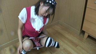 Image: Pissing Japanese princess Maya Aikawa masturbates her muff