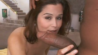 Lucky black dude gets a solid blowjob provided_by slutty Kendra Kay image