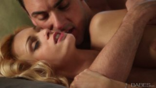 Romantic sexy girlie Erica Fontes gets fucked from behind on the couch image