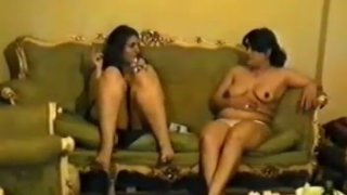 Couple of_mature Latina lesbians take shower together image