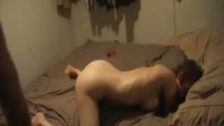 Lustful blonde chick gets fucked hard in her asshole. Homemade video image