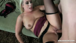 Bosomy blonde mom Sookie Blues fucks missionary style and on top image
