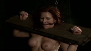 Image: Plump nympho Catherine de Sade is hogtied and moans out loud