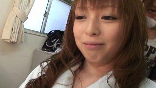 Image: Nice nude model Ichika strethces vulvar lips and stimulates her pussy