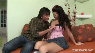 Ugly slut Jasmine Luna Gold fucks in a hardcore sex action image