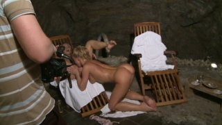 Passionate Silvia Saint is filming in a hot dyke sex video image