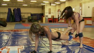 Nude wrestler Sandra Rodriguez has a hot cat fight with slutty chick image