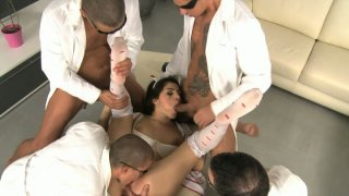 Wondrous nympho Valentina Nappi is mad_about a splendid_gang bang image