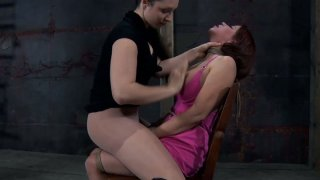Image: Chubby redhead slave girl Sarah Blake is punished by wicked mistress