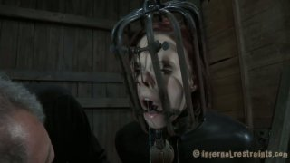 Provocative bitch Claire Adams cums while filming BDSM action image