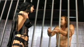 Image: Dominant severe slut Leah Wilde gonna_please naked dude in prison cell