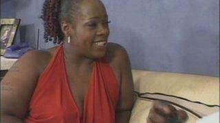 BBW ebony mom Dimples sucks and rides_thick black dick image