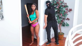 Unique porn simple love making - Home invasion turns into_interracial love-making session image
