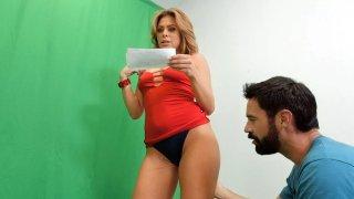 Gorgeous Blonde Italian MILF Mia Tricked into Sex image