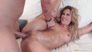 Curvy Charlie DeVille checks her stepson's pussy_fondling skills image