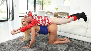 Blonde busty MILF found herself a boy-toy_to play_with image