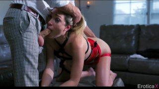Lily Labeau and her man get into domination play image