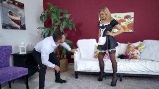 Nipple-pierced maid Kali Roses gets her cunt slammed image