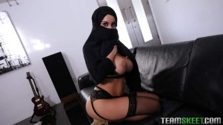 Busty Arabic Teen_Violates Her_Religion image