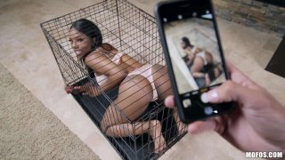 Image: Bad Girl Locked In A Cage