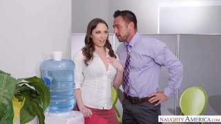 Horny Lily Love Talks Office Orgies at the Water Cooler image